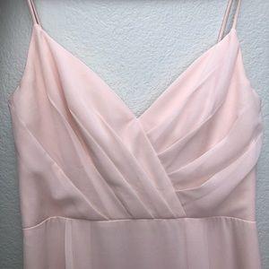 Petal Pink Bill Levkoff Bridesmaid Dress